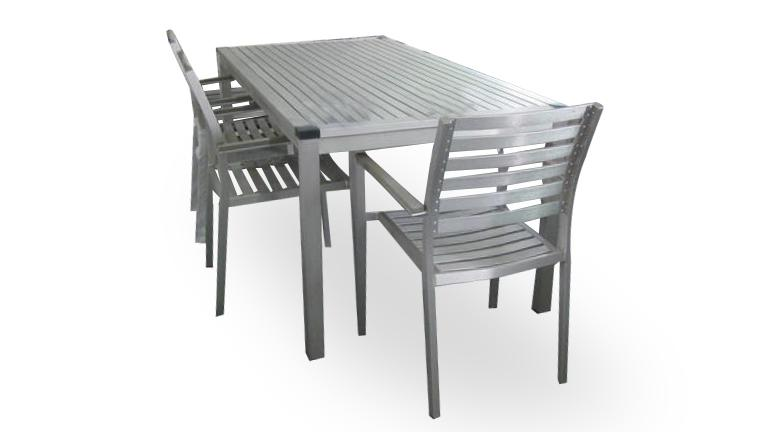 Table Chaise Jardin Aluminium