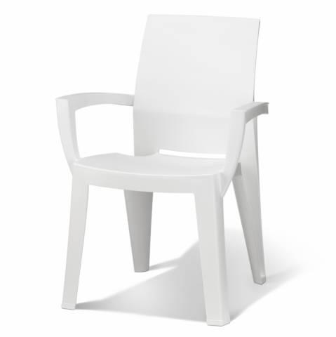 Chaise de jardin allibert blanc - veranda-styledevie.fr