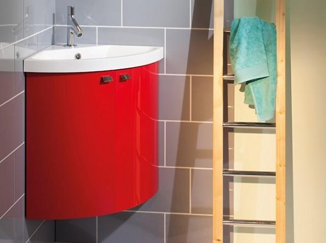 Meuble d 39 angle de salle de bain veranda - Meuble d angle salle de bain ikea ...