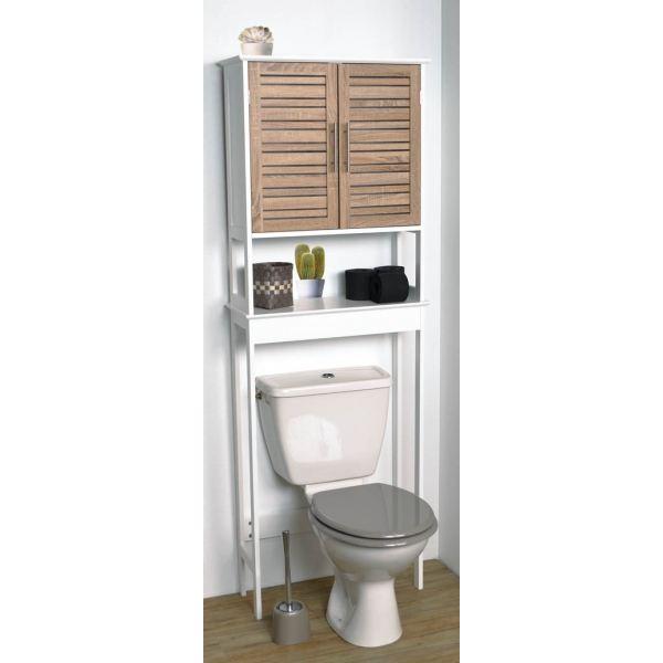 Meuble étagère dessus wc en bois