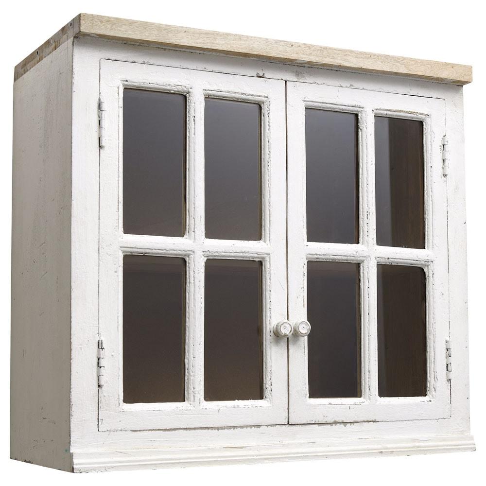 Meuble haut cuisine vitré - veranda-styledevie.fr
