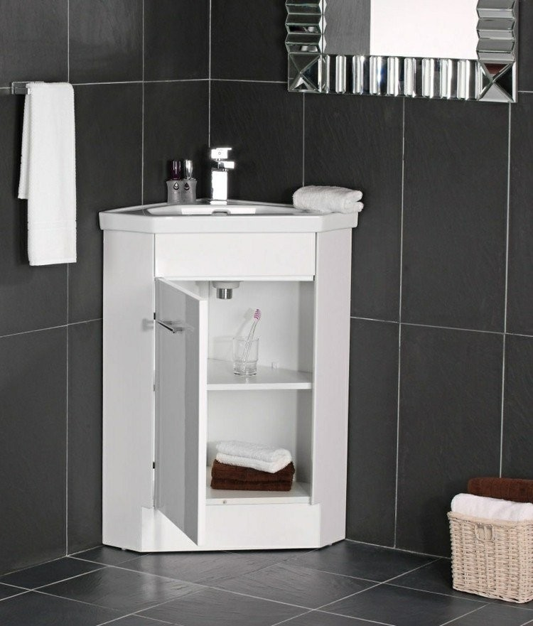 Petit meuble d 39 angle salle de bain veranda - Petit meuble colonne salle de bain ...
