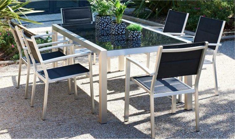 Ensemble table de jardin pas cher veranda - Table de jardin tresse pas cher ...