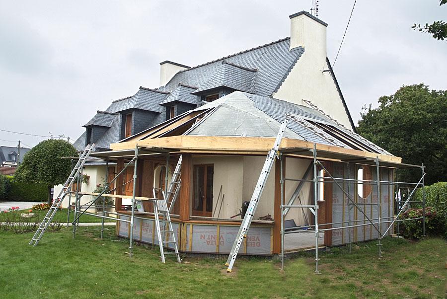 Veranda en pignon de maison veranda - Agrandissement maison veranda ...