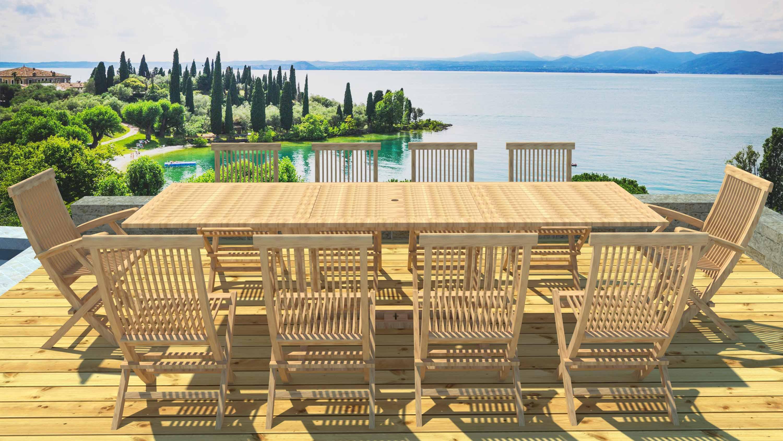 Fauteuil de jardin en bois design urban lounge - veranda-styledevie.fr
