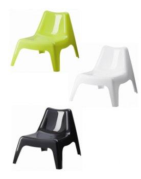 Chaise de salon de jardin en plastique - veranda-styledevie.fr