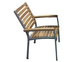 Chaise de jardin bois et alu - veranda-styledevie.fr