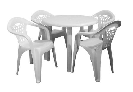 Table de jardin plastique avec chaise pas cher - veranda-styledevie.fr