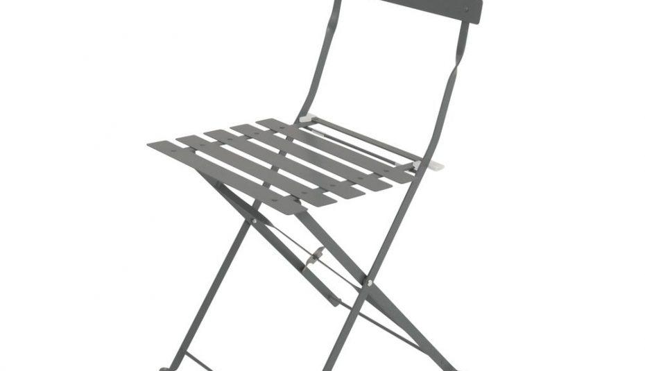 Chaise jardin pliante bois metal - veranda-styledevie.fr
