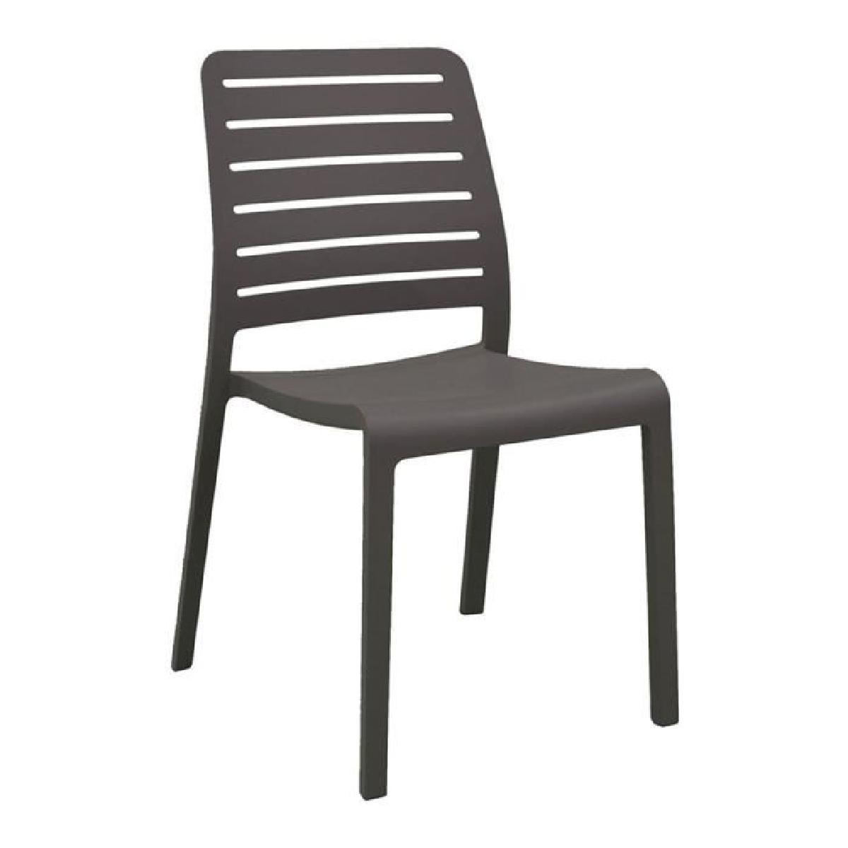chaise de jardin empilable grise chaweng veranda. Black Bedroom Furniture Sets. Home Design Ideas