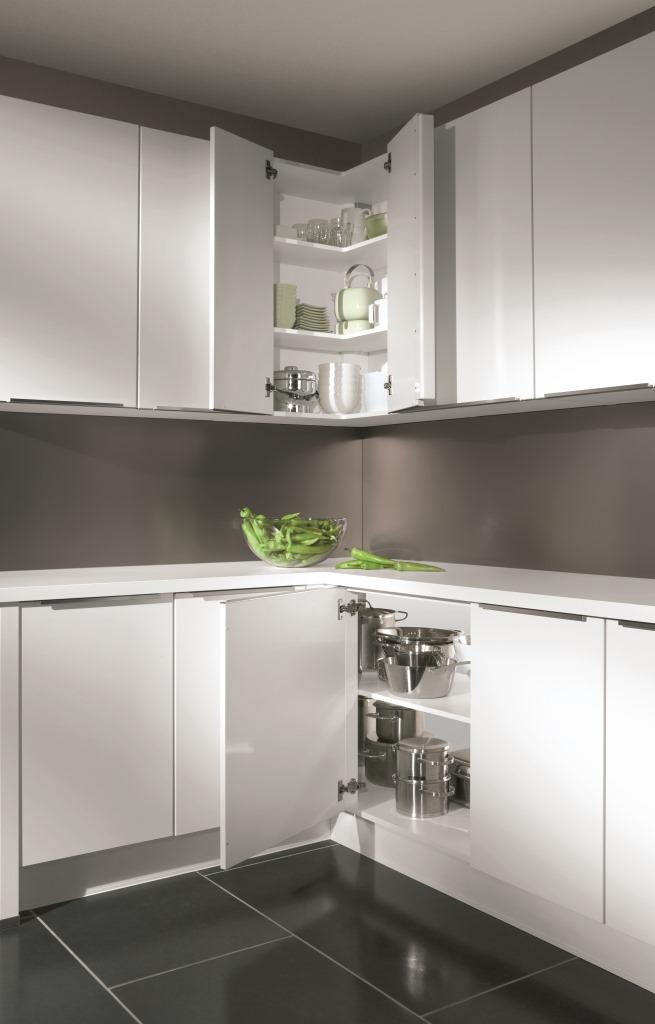 Meuble d'angle cuisine sans porte - veranda-styledevie.fr