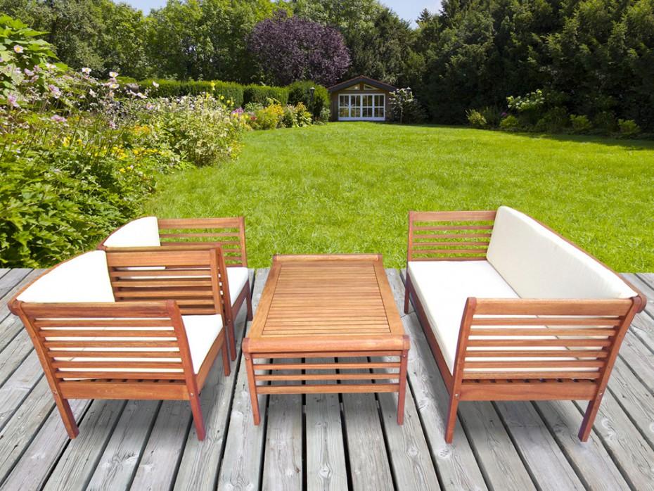 Fauteuil de jardin en bois casa - veranda-styledevie.fr