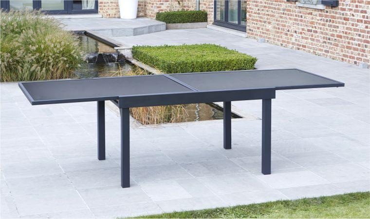 Table jardin noire - veranda-styledevie.fr