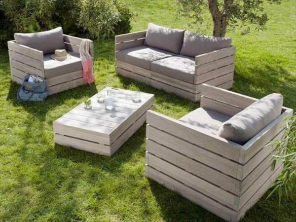 Fauteuil de jardin en palette - veranda-styledevie.fr