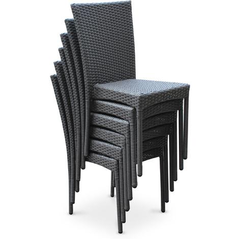 Chaise et table de jardin en resine - veranda-styledevie.fr