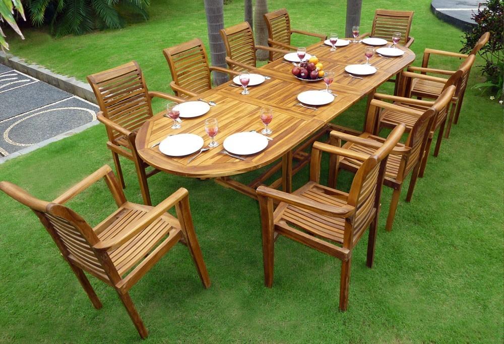Table et chaise de jardin en teck pas cher - veranda ...