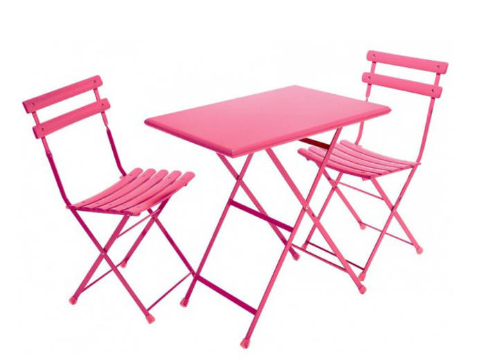 Table chaise jardin metal - veranda-styledevie.fr
