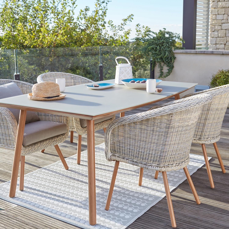Salon de jardin blanc - veranda-styledevie.fr