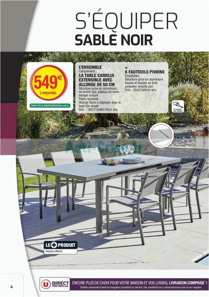 Ensemble table et chaise de jardin super u - veranda ...
