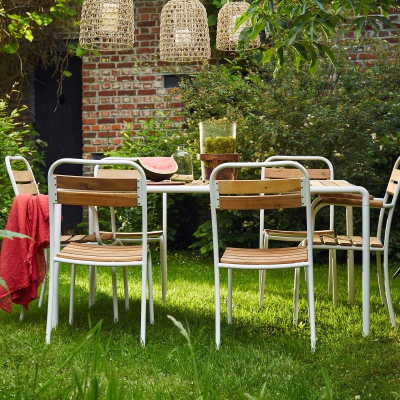 Salon de jardin bois et metal - veranda-styledevie.fr