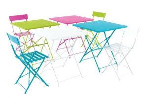 Chaise pliante bois fer - veranda-styledevie.fr