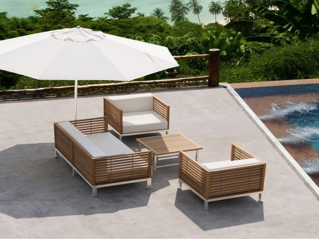 Salon jardin bois - veranda-styledevie.fr