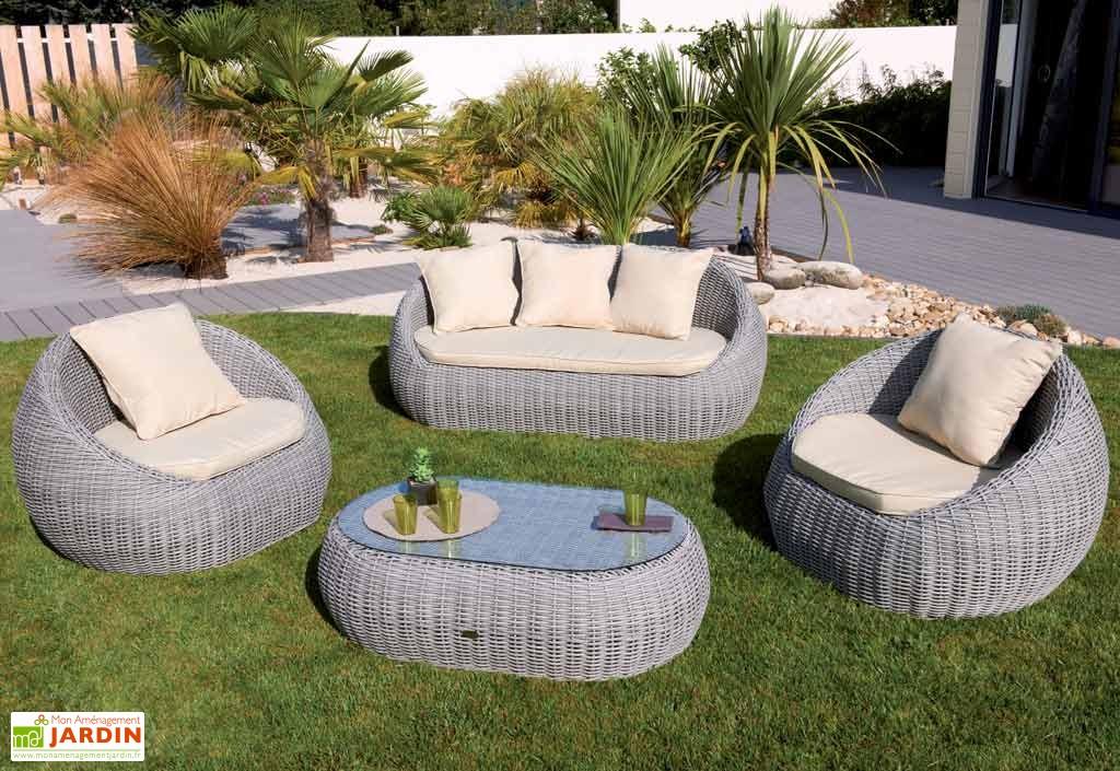 Fauteuil jardin rond resine - veranda-styledevie.fr