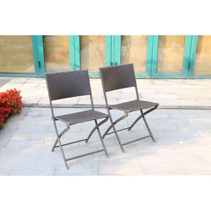 Cdiscount table et chaise de jardin en resine tressee - veranda ...