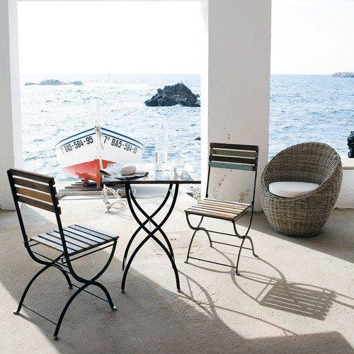 Table et chaise jardin maison du monde - veranda-styledevie.fr