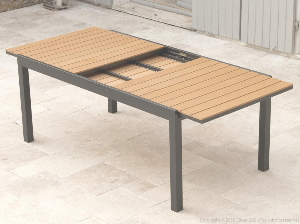 Best Table De Jardin En Aluminium Imitation Bois Photos - House ...