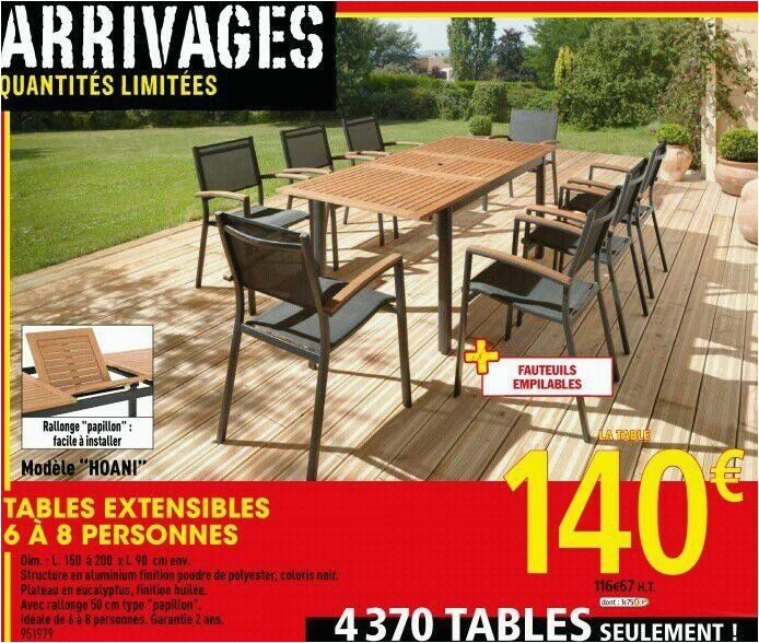 Table et chaise de jardin brico leclerc - veranda-styledevie.fr