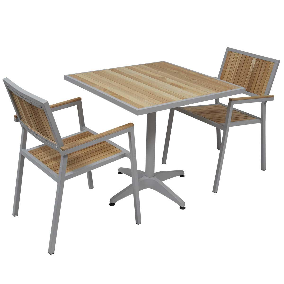 Table et chaise de jardin pas cher en bois veranda Chaise de terrasse pas cher