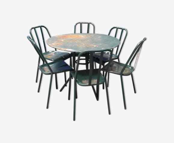 Table et chaise jardin vintage - veranda-styledevie.fr