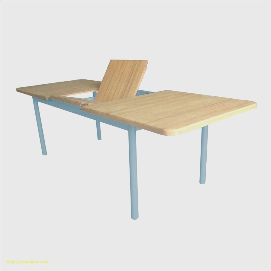 Table de jardin bois et metal - veranda-styledevie.fr