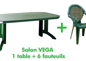 Ensemble table et chaise de jardin plastique pas cher ...