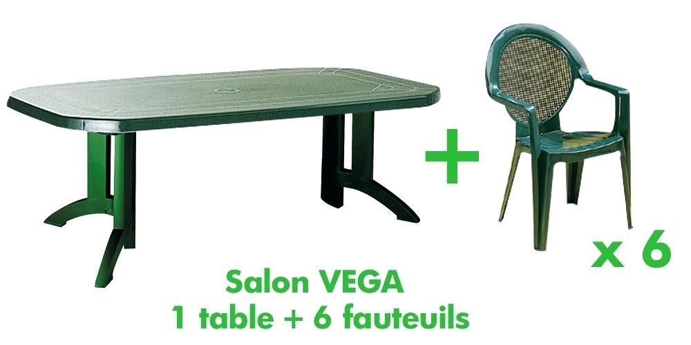Ensemble table et chaise de jardin plastique pas cher - veranda ...