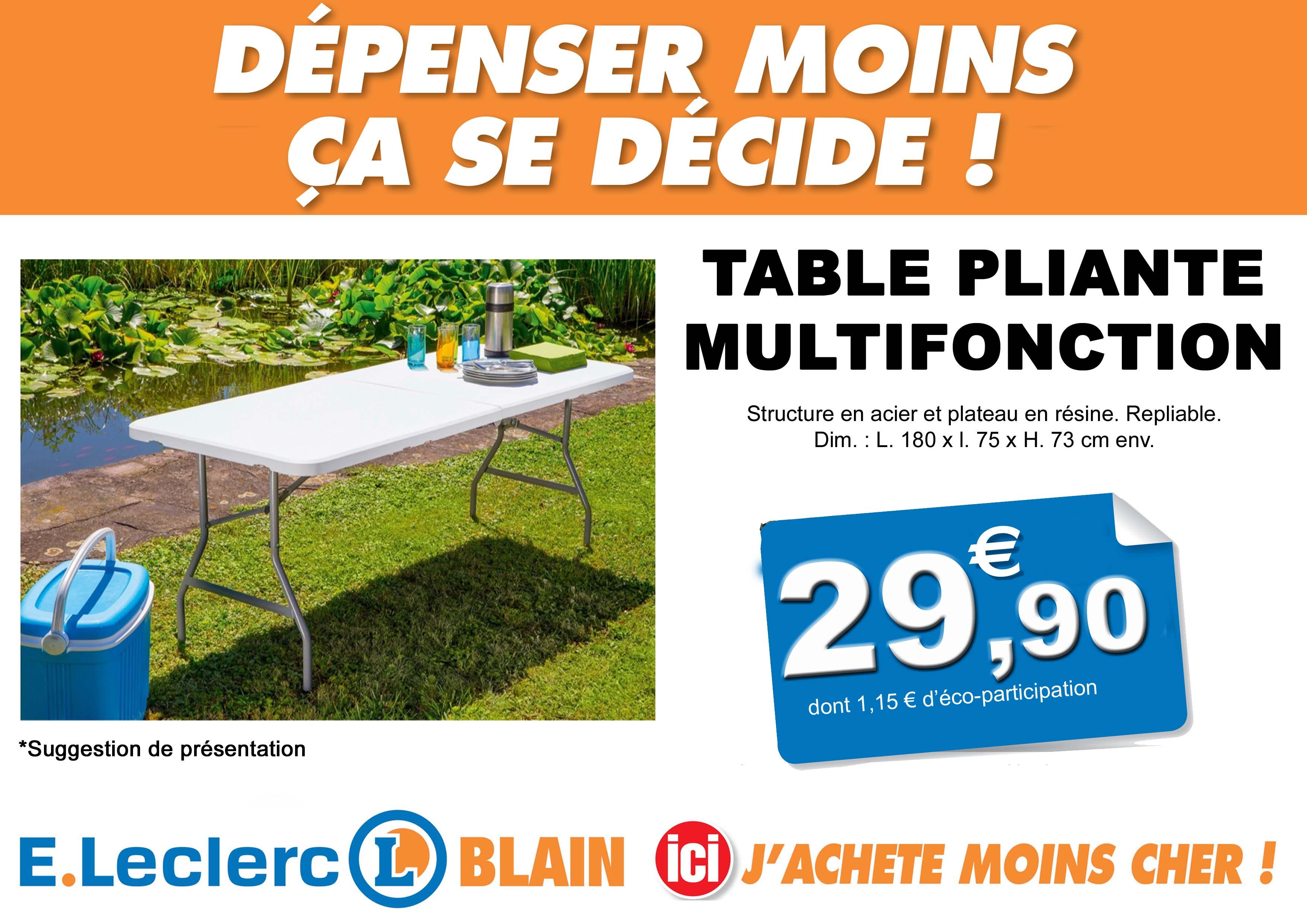 Table et chaise de jardin e leclerc - veranda-styledevie.fr