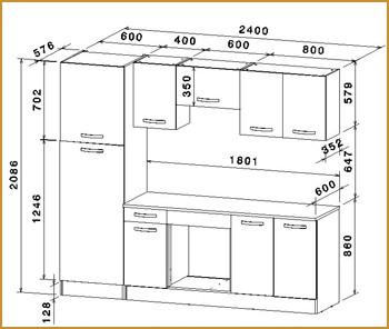 hauteur meuble haut dans une cuisine veranda. Black Bedroom Furniture Sets. Home Design Ideas