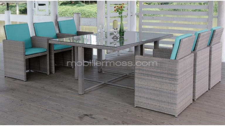 Coussin chaise de jardin turquoise