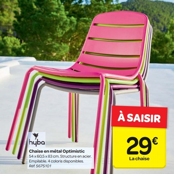chaise longue de jardin chez carrefour veranda. Black Bedroom Furniture Sets. Home Design Ideas