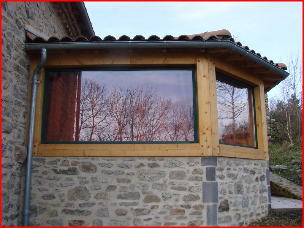 Veranda sur maison en pierre veranda - Veranda extension maison ...
