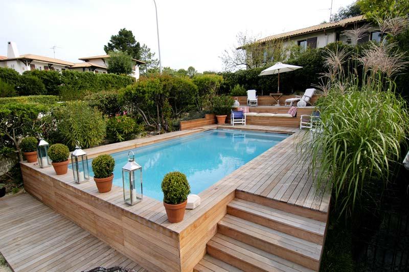 Terrasse En Bois Avec Piscine Veranda Styledevie Fr
