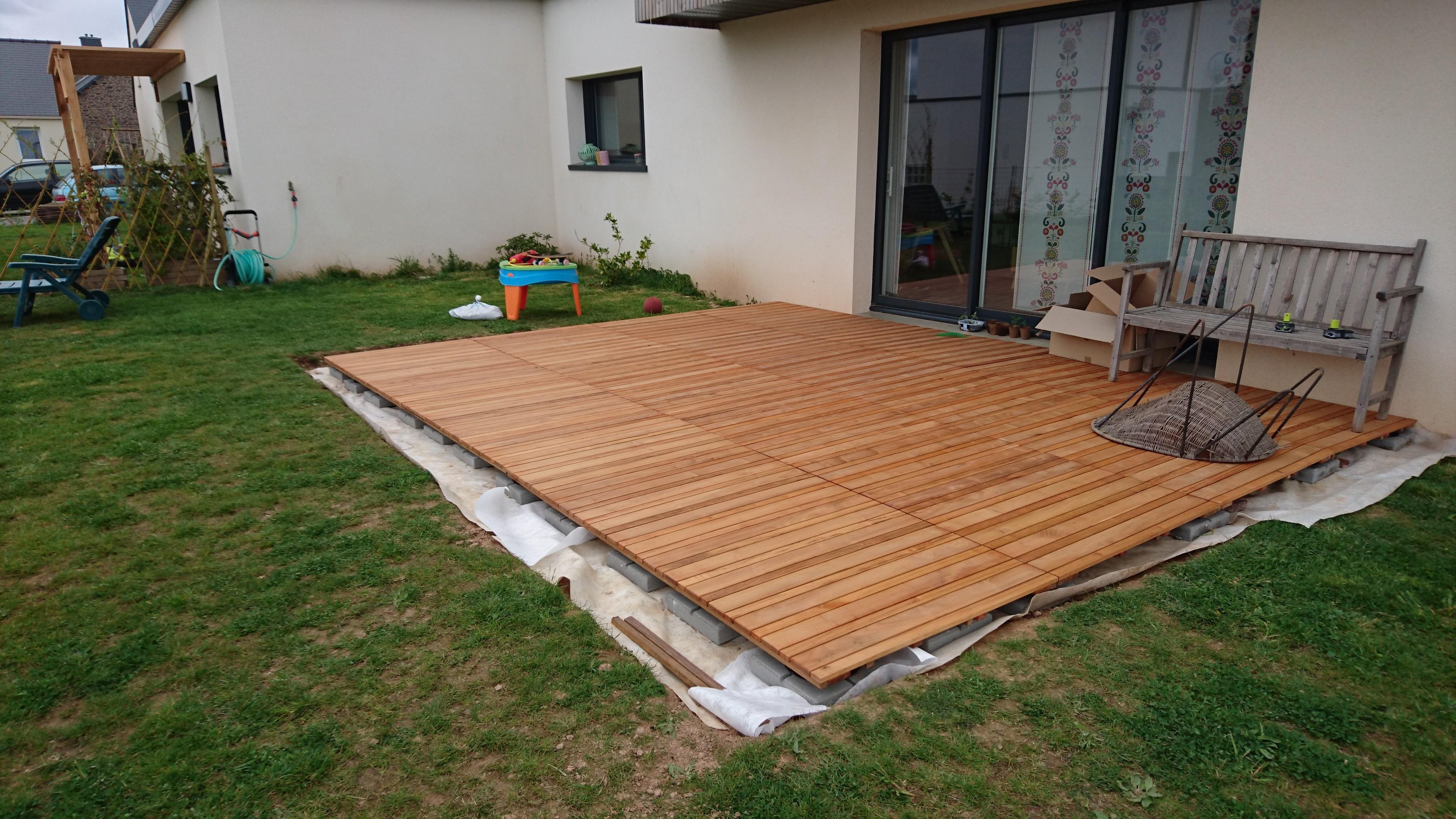 Great Comment Faire Une Terrasse En Bois Sur Plot Beton