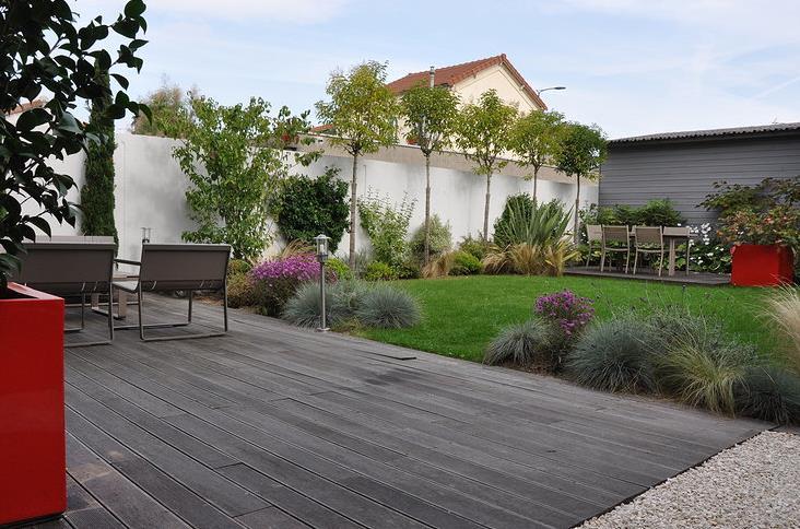Terrasse jardin design - veranda-styledevie.fr