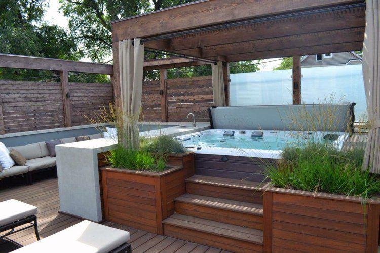 Modele de terrasse avec jacuzzi - veranda-styledevie.fr
