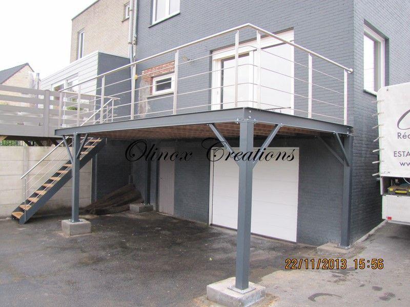 Terrasse suspendue en kit acier