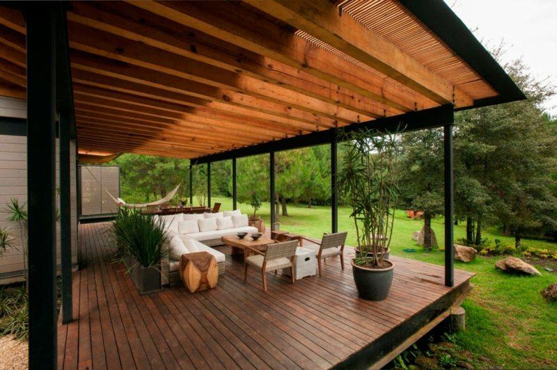 Terrasse fermée en bois - veranda-styledevie.fr