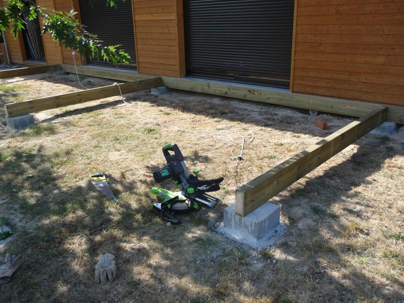 Ossature Terrasse Bois Sur Plot Beton Veranda Styledevie Fr