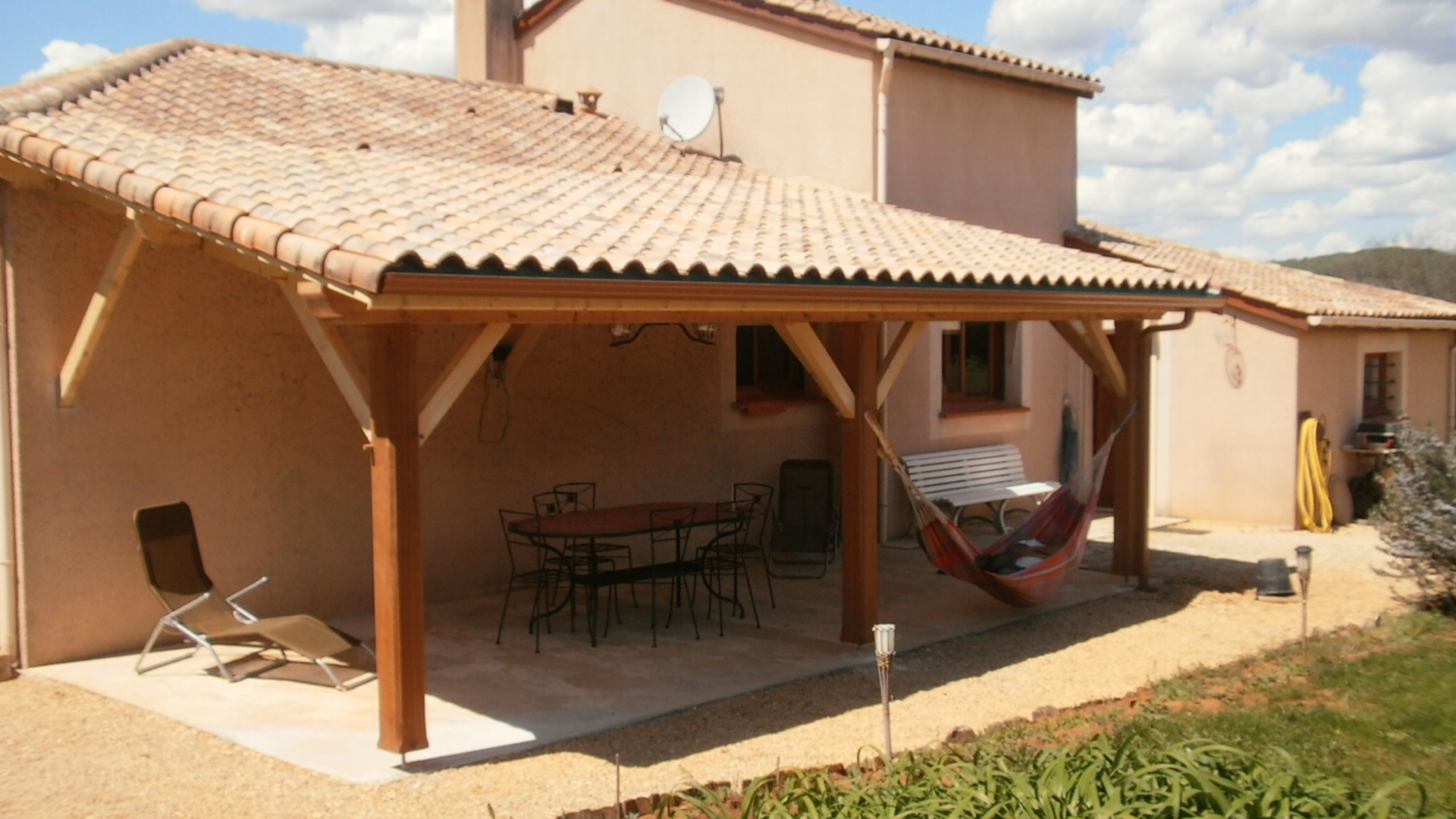 kit abri terrasse bois veranda. Black Bedroom Furniture Sets. Home Design Ideas