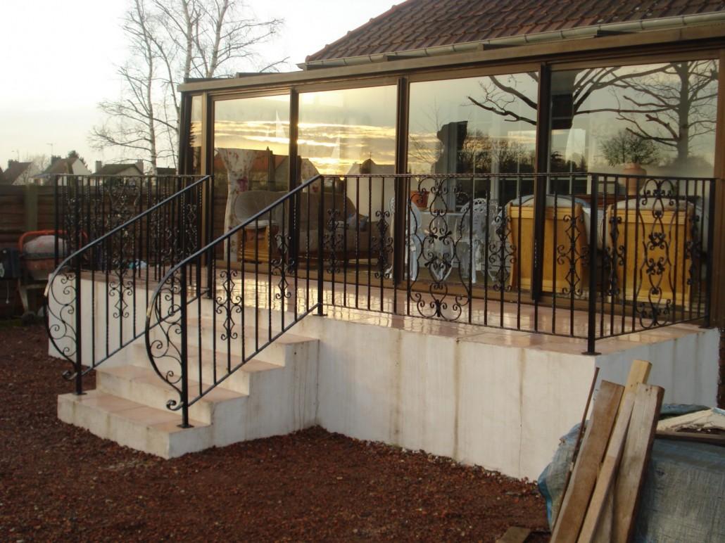 Terrasse fer forgé - veranda-styledevie.fr